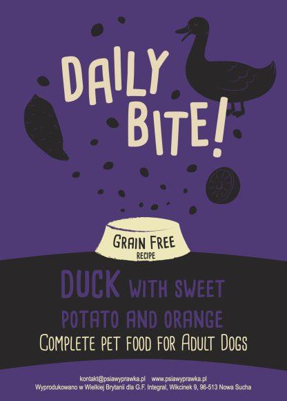 Daily Bite karma dla psów kaczka z pomarańczą