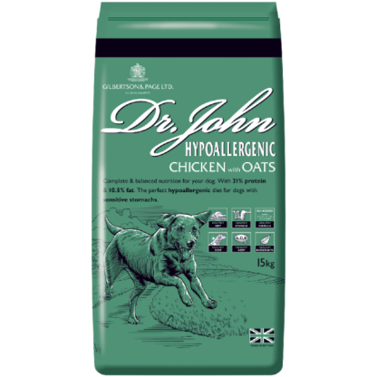 DR JOHN HYPOALLERGENIC CHICKEN and oats